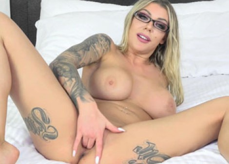 Karma Rx is fingering her sweet pussy